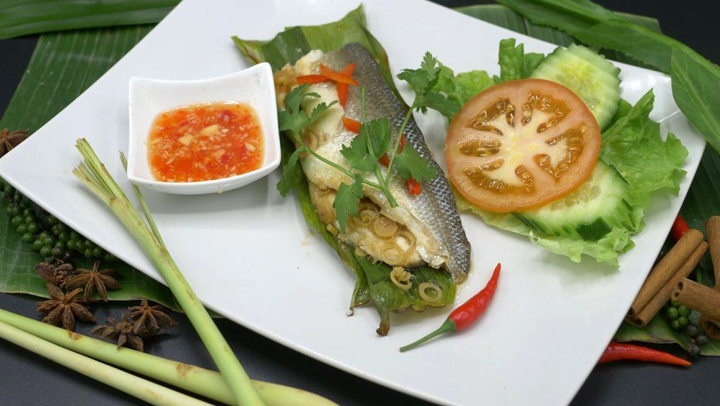 Spécialité de Thailande | Le Bar grillé à la citronnelle