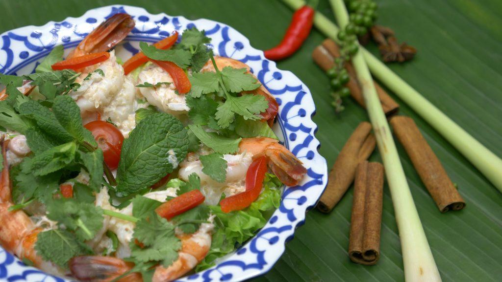 Cuisine du royaume du Siam | Crevettes Citron Coco