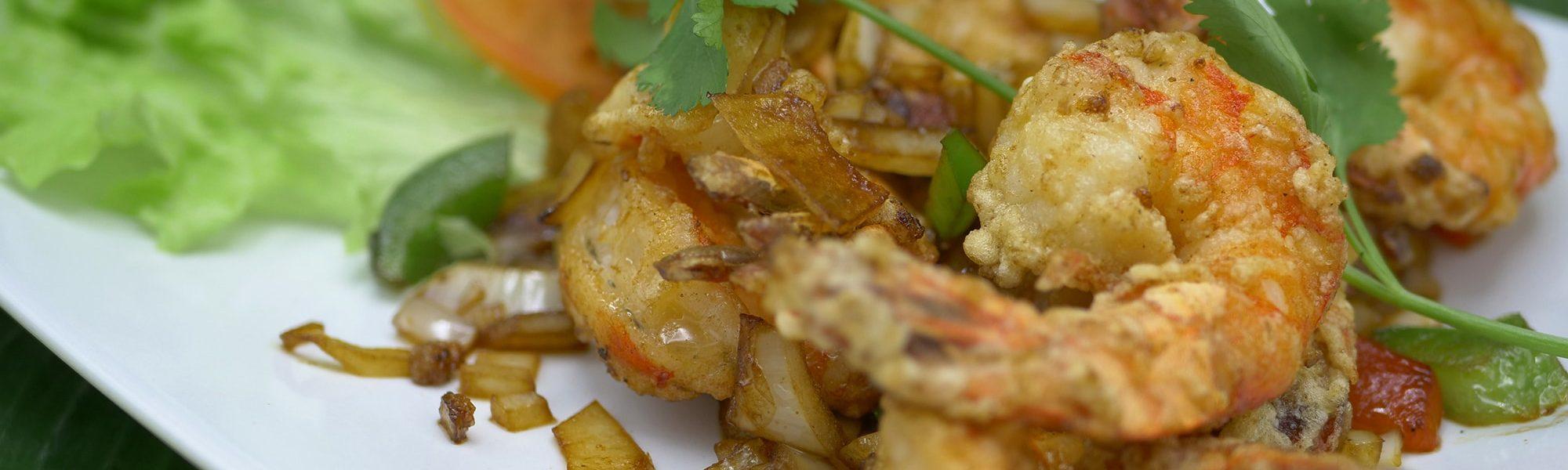 Plat Chinois | Crevettes sautées sel poivre | Kok Ping Champs-Elysées