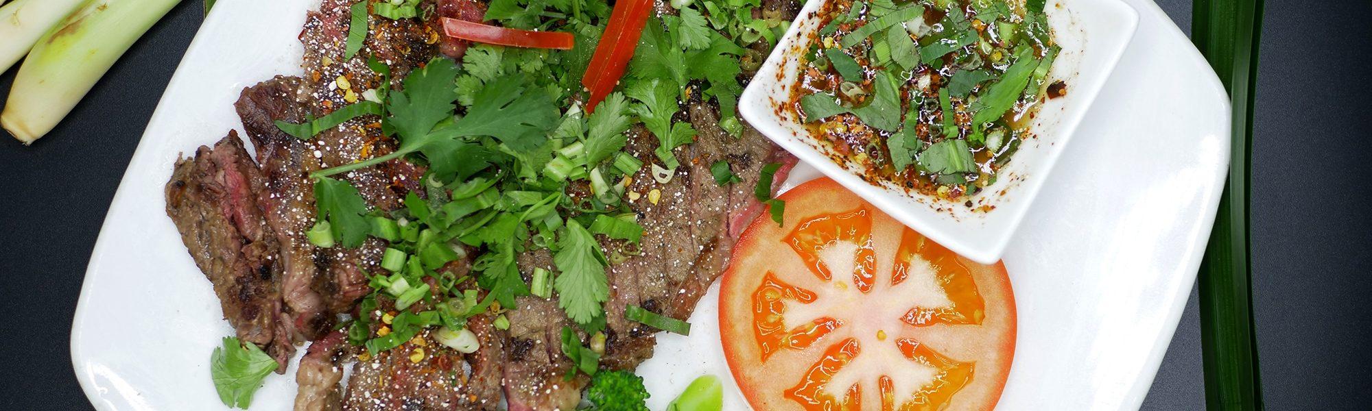 Plat Thailandais | Larmes du tigre | Restaurant Kok Ping Paris